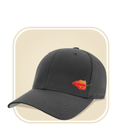 Hats from Horsetooth Hot Sauce in gray